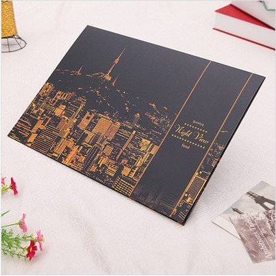 1PC World famous city scratch painting paper gold color hand ability improve creative painting scratch paper scratch night view