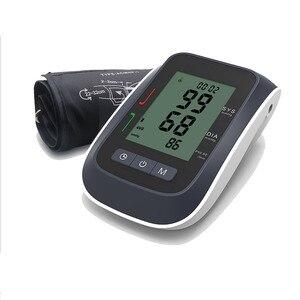 Image 4 - Портативный цифровой измеритель артериального давления, наручный сфигмоманометр, пульсометр, черный тонометр