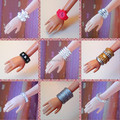10 Pcs Mix Different Styles Colorized Fashion Morden Doll Bangle Bracelet Accessories For Barbie Kurhn Doll Birthday Gift