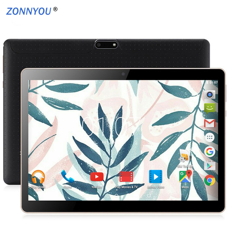 10.1 Inch Tablets PC Android 8.0 3G/4G Phone Call Octa Core 4GB RAM 64GB Dual SIM 5.0MP GPS Bluetooth Wi-Fi Tablet PC+keyboard