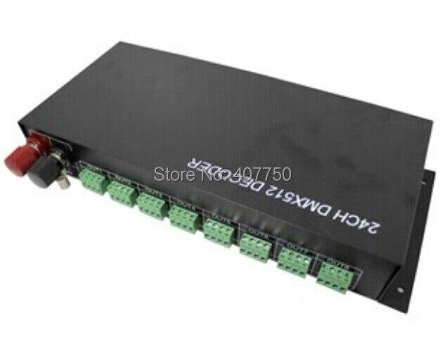Livraison gratuite à L'europe dmx 512 contrôleur dmx décodeur rgb 24 canaux de sortie utilisé pour rgb dmx led lumière groupe ou pixel contrôle
