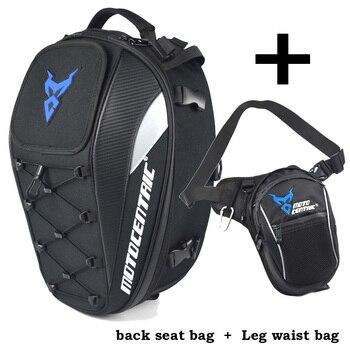 Hot Motorcycle Rear Seat Bags Back Bags Waist Leg Bag Top Case Motorbike Bag Running Sport Luggage Climbing Fishing Cycling Pack