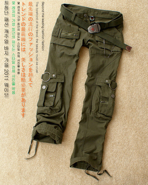 100% Cotton Men Cargo Pants Army Green Multi Pockets Uniform Pants for men wholesale and free shipping