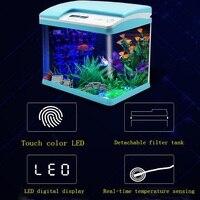 2019 новая высокотехнологичная машина для Smart touch красочные аквариумных резервуарах светодиодный цифровой дисплей круглый аквариум 32/38 см