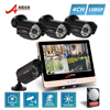 ANRAN Plug And Play P2P POE 4CH 1080P 12 Inch LCD Monitor NVR Home Security System