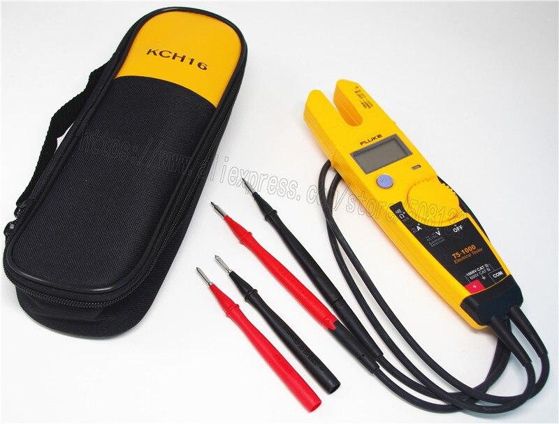 FLUKE T5 1000 1000 Voltage Current Electrical Tester Soft case KCH16 TP1 Test probe