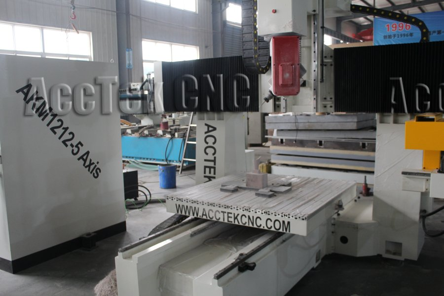 cnc router engraving machine AKM1212 5 axis 3D carve for wood foam