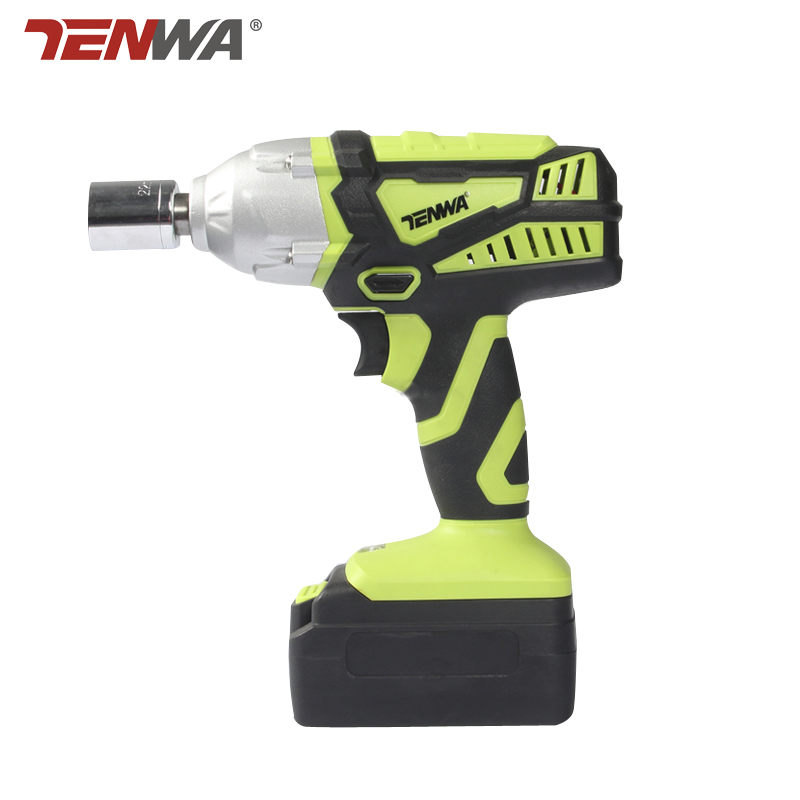Tenwa 18V Rechargeable Electric Wrench Electric Impact Wrench brus wrench scaffolding lithium electric drill tool wrench Eu plug lithium rechargeable electric wrench wrench cordless impact wrench scaffolding installation tool can change car wheel