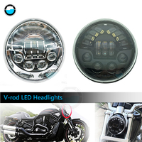 Motorcycle Headlights VRSC/V ROD LED Headlamp With Daytime Running Light Vrod headlight Oval for Harley VRod VRSCF VRSC VRSCR .