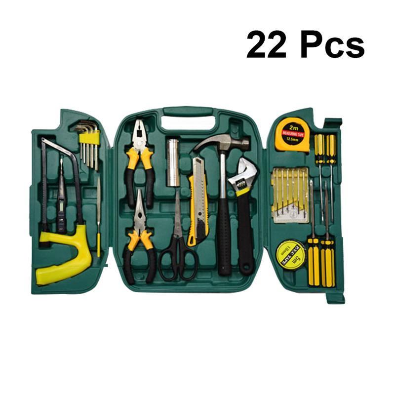 WINOMO многофункциональный набор для ремонта автомобиля аппаратные инструменты для аварийного ремонта с гайковертом отвертка плоскогубцы молотковая лента мера