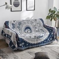 YRYIE Multifunction Bohemian Tapestry Bedspread Tablecloth Travel Blankets Cotton Retro Tassel Sofa Decoration Blanket