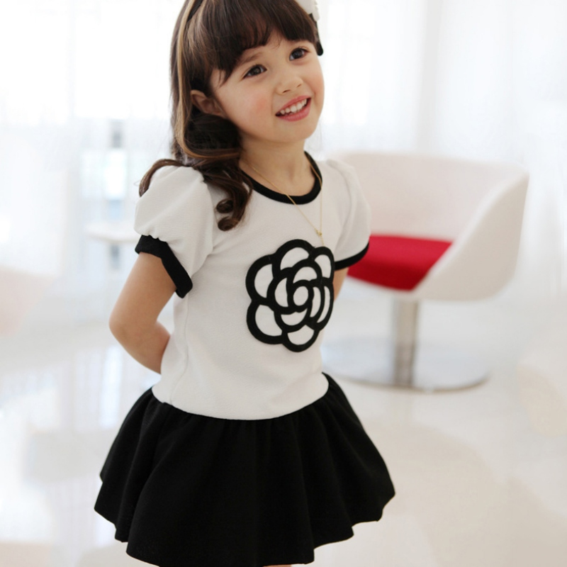 Children Baby Girls Kids Dresses Cute Flower Short Sleeve Princess Tutu Party Dress сок bebivita груша 200 мл