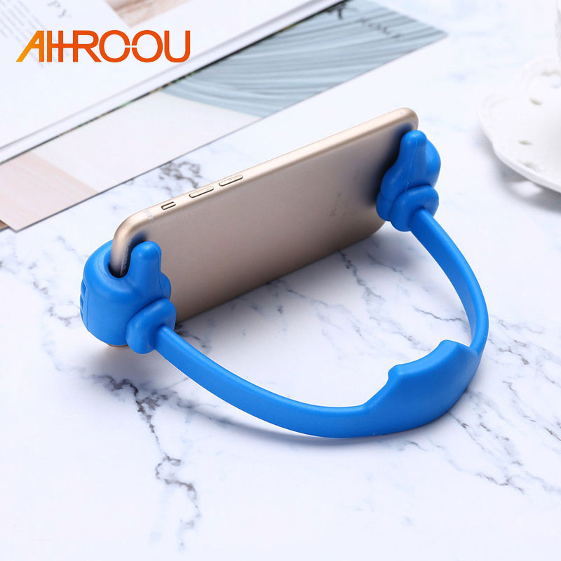 OK Stand Universal Car Desktop Stand Mount Thumb Hand Holder For Cell Phone Tablet Lazy Flexible Tablet Phone Holder Desktop