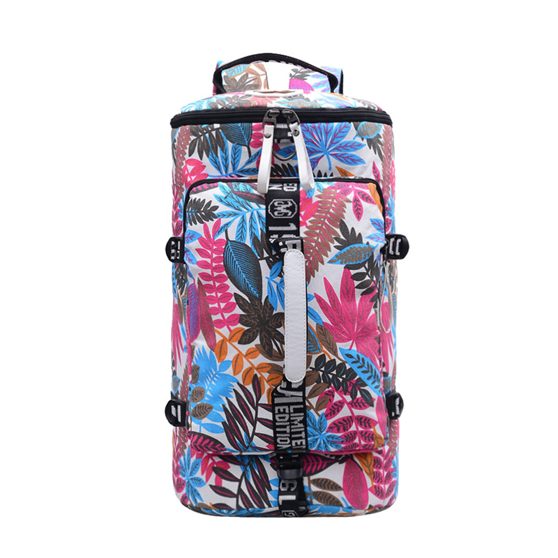 Multifunction Canvas Sport Bag Training Gym Bag Waterproof Sports Gym Bag Backpack for Women Fitness Yoga Travel Luggage Bags