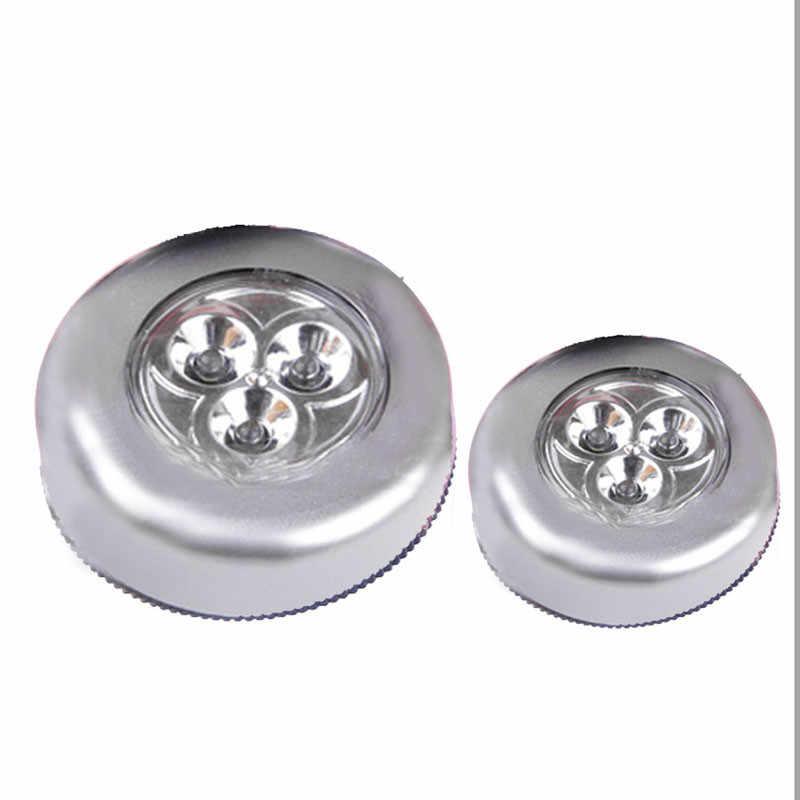 3 шт. супер-высокая яркость белый светодиодный настенный светильник кухонный шкаф Освещение для шкафа наклейка Сенсорная лампа серебро энергосберегающий Новый