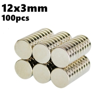 Decorative Magnets in Disc 12mm x 3mm Super Powerful Magentic Round Neodymium Magnet 100pcs 12*3 N35 Rare Earth Imanes