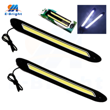 1 set Square 32cm Bendable led Daytime Running light Waterproof COB Day time Lights flexible LED Car DRL Driving lamp