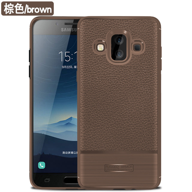 pretty nice 90f42 16e5f US $2.88 |For Samsung Galaxy J7 Duo Case Soft silicone Rugged Armor  protective Back Cover Cases for samsung j7duo full cover shell-in Fitted  Cases ...