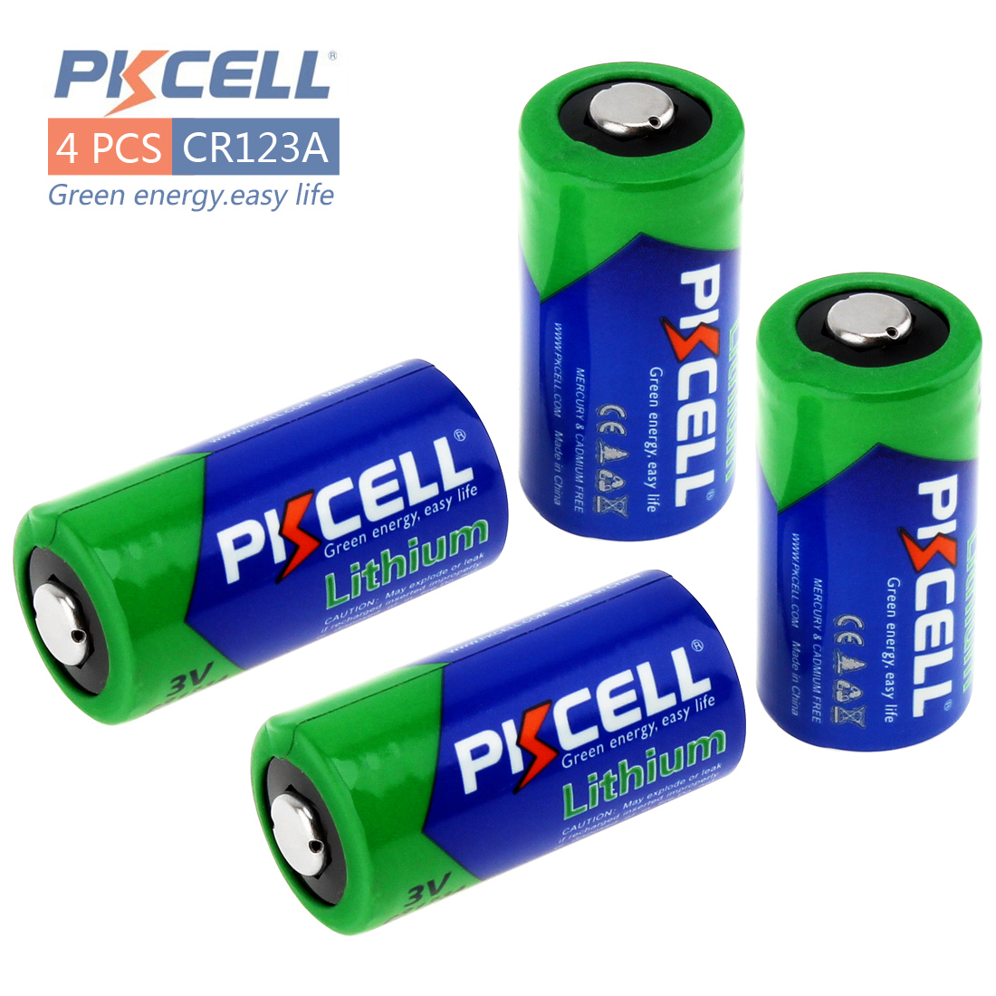 4pcs PKCELL 2/3A Battery CR123A CR123 CR 123 CR17335 123A CR17345(CR17335) 16340 3V Lithium Battery Batteries for Carmera new 2 pcs 16340 cr123a 17335 1000 mah battery 3v cr123a battery charger digital camera made of special battery