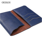 OEEKOI Universal Elephant Pattern Leather Wallet Sleeve Pouch Case for Posh Mobile Orion S450 4.5 Inch