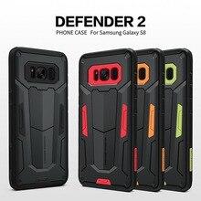 Противоударный Armour чехол для Samsung Galaxy S8 S8 плюс Nillkin Defender 2 Прочный Щит задняя крышка жесткие Чехол для Samsung S8 плюс