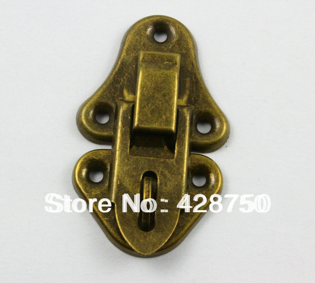 Antique Brass Jewelry Box Hasp Latch Lock 33x55mm with Screwsin