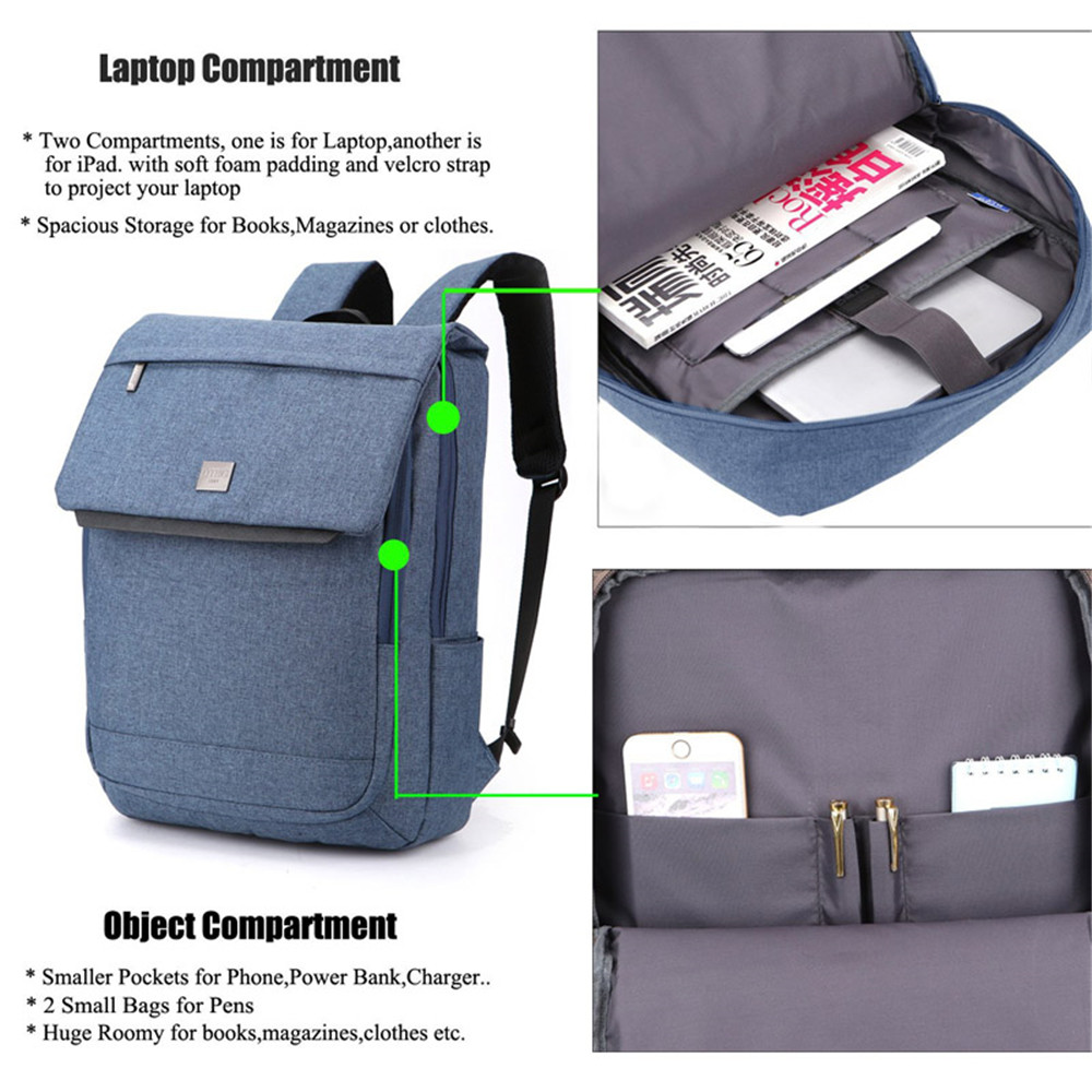 DTBG Women Men Laptop Backpack 15.6 15 Inch Backpacks Waterproof ...
