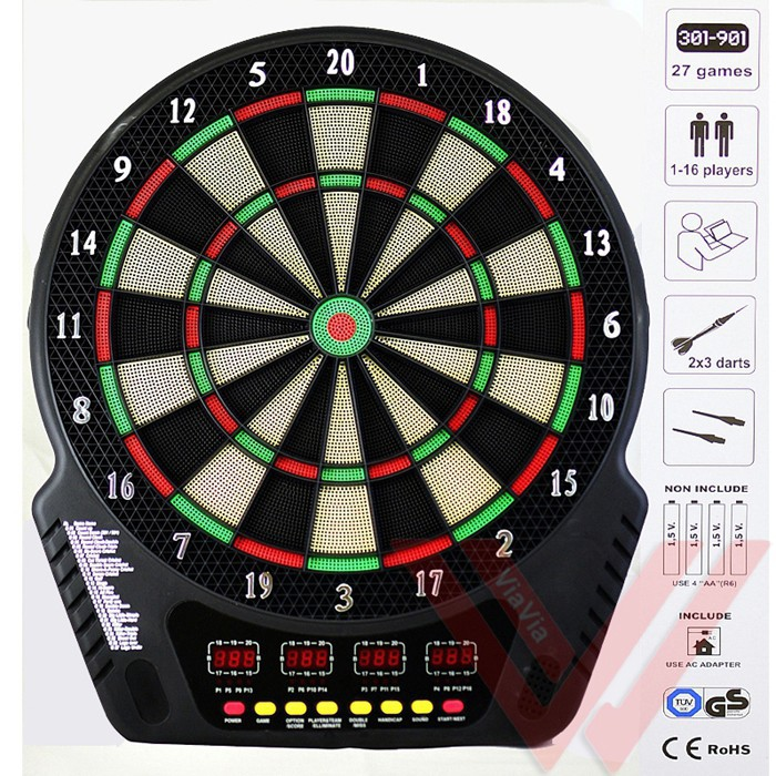 18 Inch Professional Electronic Dartboard Darts Pack Automatic Scoring With Display