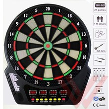 Free Shipping 18 Inch Electronic Dartboard Automatic Scoring Vocal Professional Dartboards with Led display and Safe Soft Darts