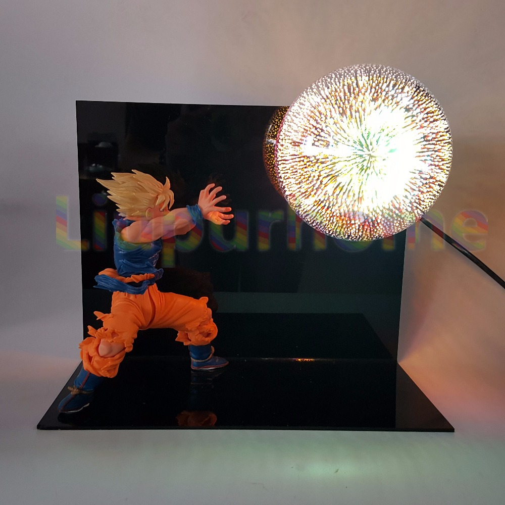 Dragon Ball Z Son Goku DIY Led Set Table Lamp Luminaria Night Light Anime Dragon Ball Desk Lamp Lampara Led For Xmas Gift