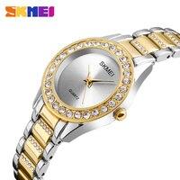 SKMEI Beiläufige Frauen Uhr Mode Damen Uhren Top-marke Luxus Diamant Quarzuhr Weiblichen Uhr Relogio Feminino Montre Femme
