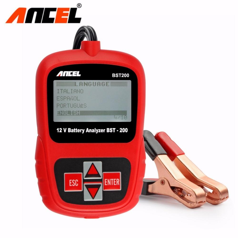 Prix pour Ancel BST200 Russe Espagnol Multi Langues Automobile 12 V De Voiture Auto Testeur de Batterie 1100CCA BST Système Analyseur Livraison Gratuite