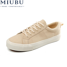 MIUBU New 2019 Hot High Quality Fashion HIgh Men Flats Casual Canvas Shoes Men Shoes Size 39-44 недорого