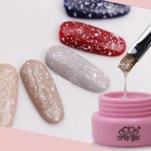 Лак для ногтей Гель-лак Красота 3 г блестящая Рождественская Снежинка прозрачный CHE Gel УФ светодиодный био-Гели Soak Off дизайн ногтей гель лак для макияжа