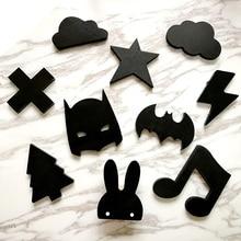 Деревянные мороженое/кролик/летучая мышь/борода/облака Детская Одежда Крюк Детская комната настенная вешалка в качестве украшения крюк подарок на день рождения