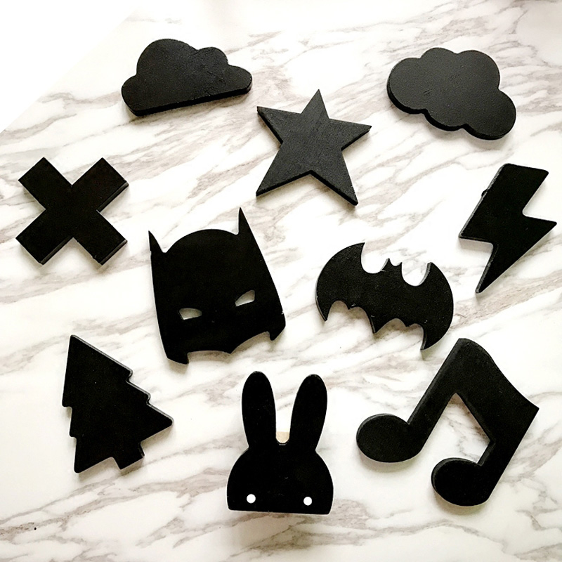 Wooden ice cream /Bunny/Bat/beard/Clouds baby Kids Clothes Hook Children's Room Wall Decoration Hanger Hook Birthday Gift