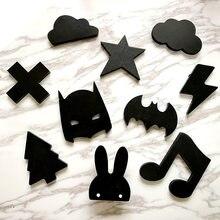 Wooden Ice Cream Bunny Bat Beard Clouds Baby Kids Clothes Hook Children S Room Wall Decoration Hanger Birthday Gift