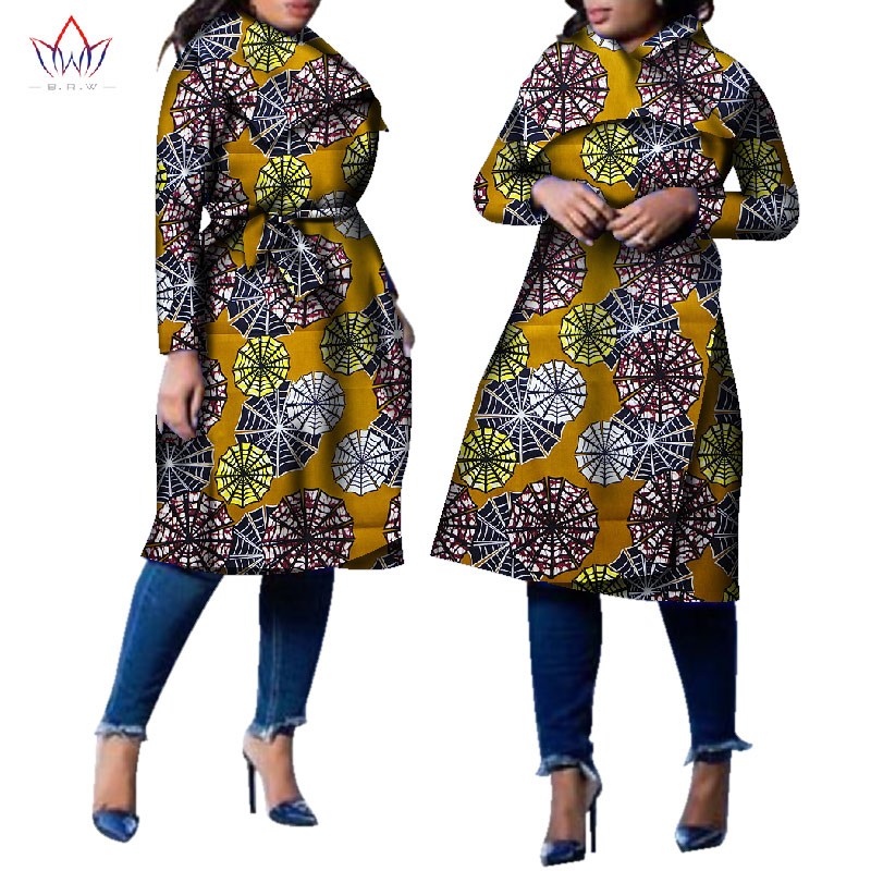 Africain La Wy2261 6 Trench Riche 5 19 Brw Turn 17 13 1 Bazin 15 16 Femmes Traditionnel 7 Col Plus Manteau 2 Outwear Dashiki Afrique 10 down Mode 2018 3 Taille 8wUq5