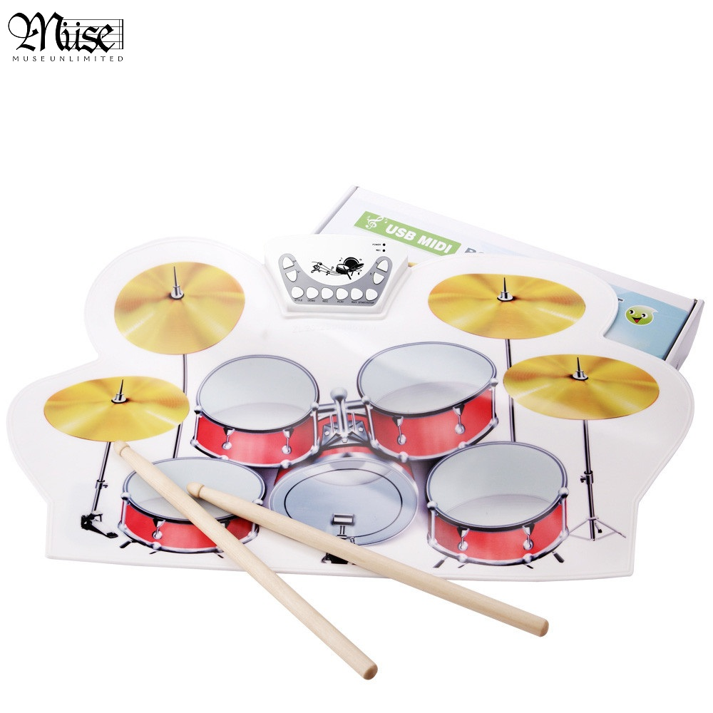 US $50 72 11% OFF|USB PC Digital Electronic Roll Up Drum Pads Kit  +Drumsticks+Cable-in Parts & Accessories from Sports & Entertainment on
