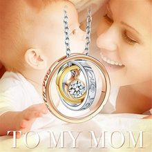 Beiver I LOVE YOU MOM Pendant Necklace Best Gift for Mom Family Jewelry