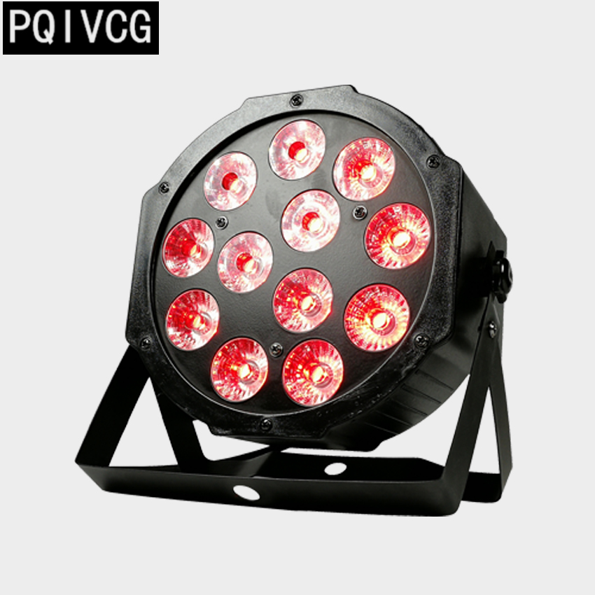 12x12W led Par lights RGBW 4in1 flat par led dmx512 disco lights professional stage dj equipment