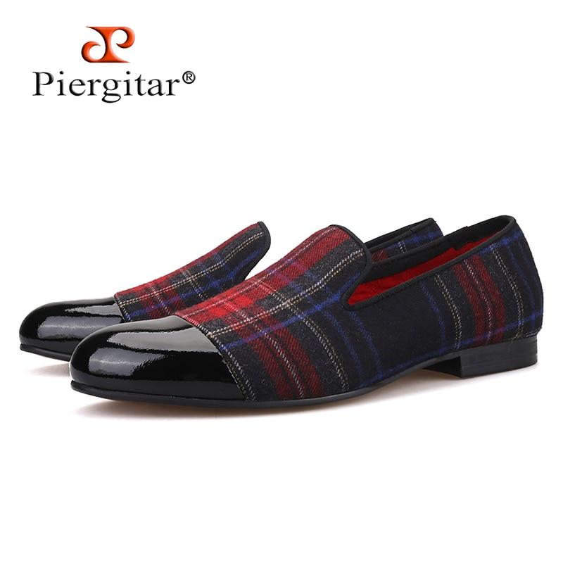 Ayakk.'ten Erkek Rahat Ayakkabılar'de Piergitar yeni El Yapımı erkek mokasen ayakkabıları ile şemsiye tasarımları ve siyah deri ayak düğün ve parti slip on erkekler sigara terlik'da  Grup 1