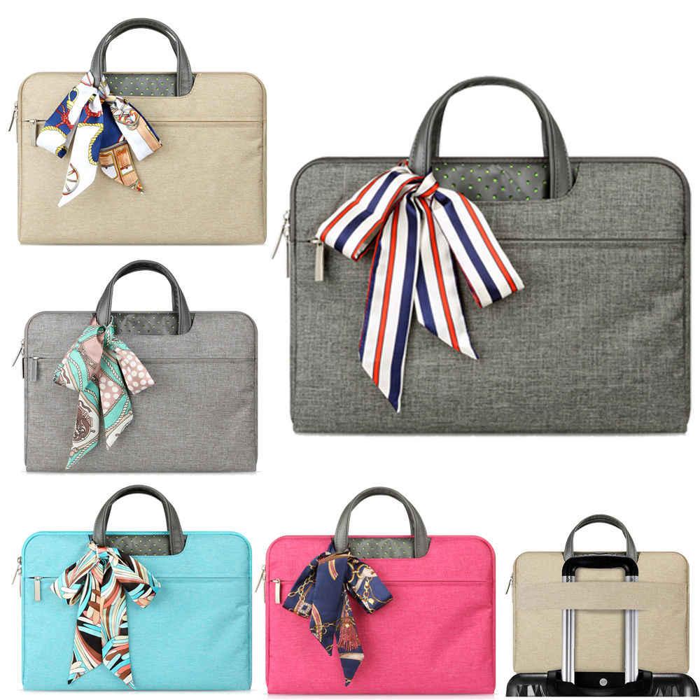 Moda feminina bolsa para portátil 15.6 14 13 12 11 polegada caso computador portátil manga maleta bolsa para macbook ar 13 13 15 pro caso