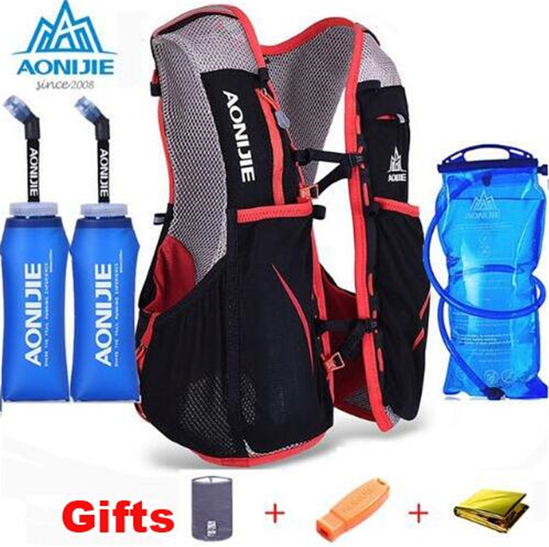 AONIJIE 5L Outdoor Sport Running Hydration Backpack Unisex Lightweight Running Hydration Vest Hiking Bag + 1.5L Water Bag