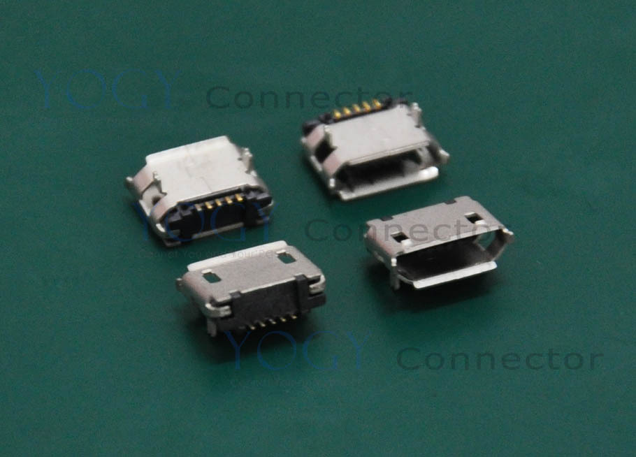 (30 pcs/lot)Type-B Micro USB Connector Receptacle, 2 Fixed feet DIP, Commonly used in MP3, MP4, mobile phones
