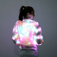 Fashion Women Tops Jacket Coat LED Luminous Clothes Nightclub Jacket Bar Dance Show Style Autumn Spring