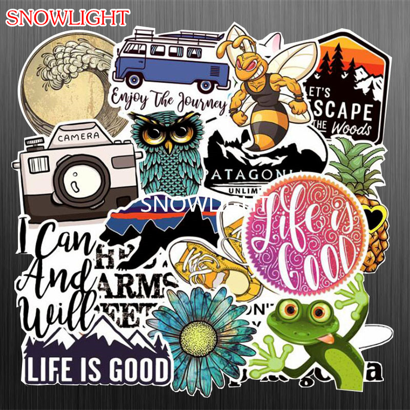 19 Pcs/Set Animal Graffiti Popular Travel Stickers For Luggage Laptop Skateboard Bicycle Motorcycle Decals Waterproof Sticker