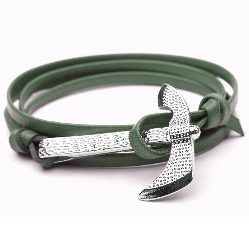 NIUYITID Antique Silver Ax Bracelet For Women Classic Man Jewelry Accessories Nautical Sailor Hatchet Pirate Bracelet  (2)