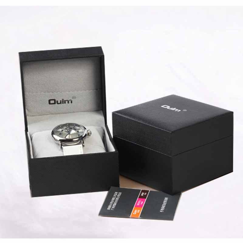 Oulm Watch Box High Quality Durable Present Gift Hard Case For Bangle Jewelry Watch Box Black (Only box, not include watch) black out watch box