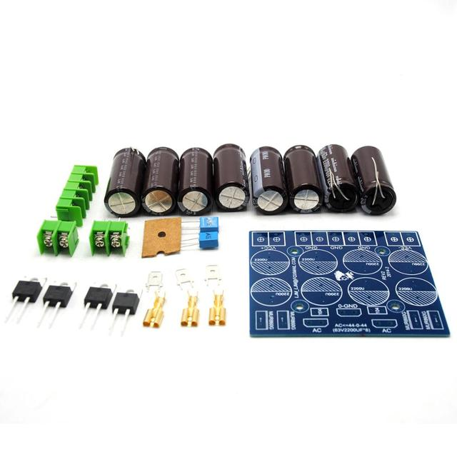 DIY Kits HIFI Stereo 63V 2200Uf x 8 + MUR860G x 4 Power Supply Board